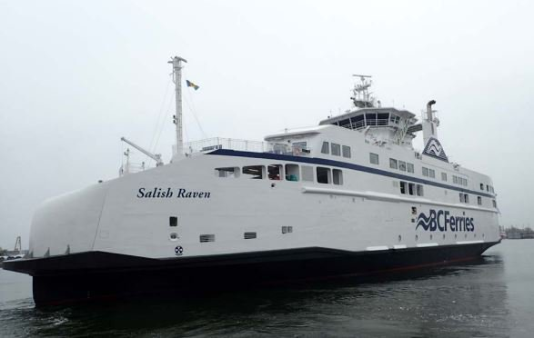 BC Ferries' Salish Raven - The Third And Final Salish Class Vessel - Sets Sail For British Columbia