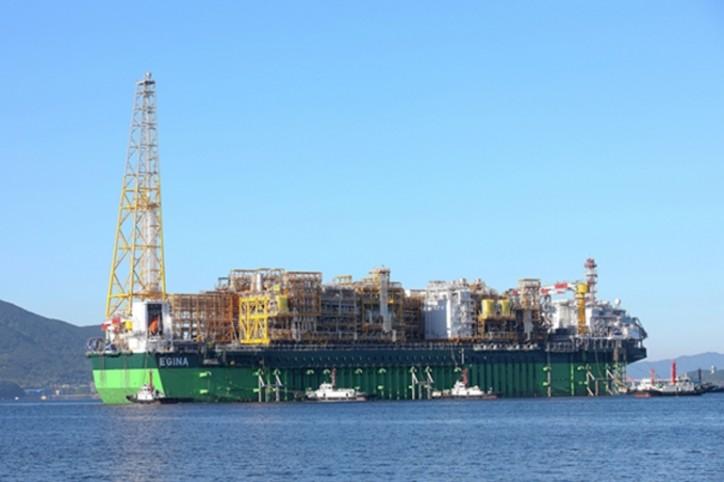 Egina FPSO Leaves SHI's Geoje Shipyard