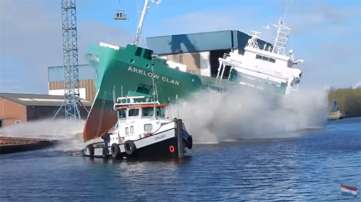 Arklow Clan successfully launched at Ferus Smit's Westerbroek yard (Video)