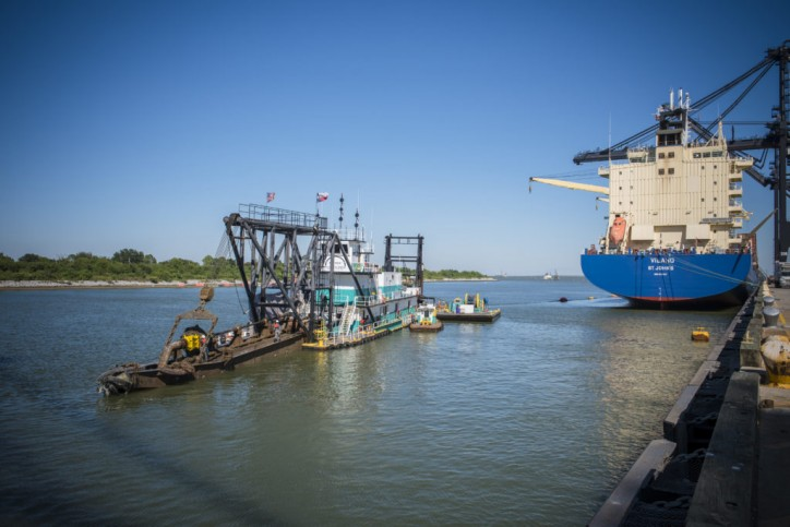 Dredging Complete at Bayport Channel in the Port of Houston