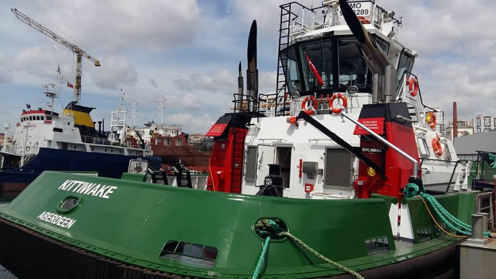 Turkey's Sanmar Shipyards delivers five tugboats to three different UK clients in 2017