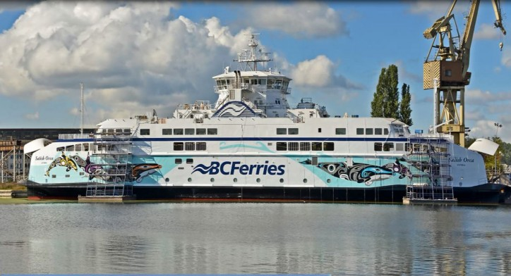 BC Ferries' Salish Orca Gets Wrapped in Massive Art Decal