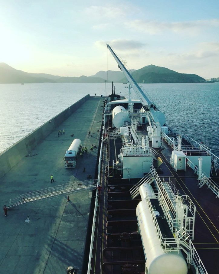 Fure Vinga bunkers LNG in Europe for the first time