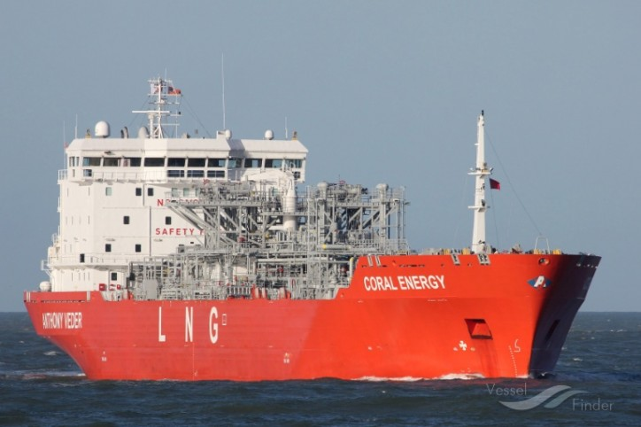 Coral Energy loaded twice in January at Klaipedos Nafta with LNG cargo for the Nordic countries