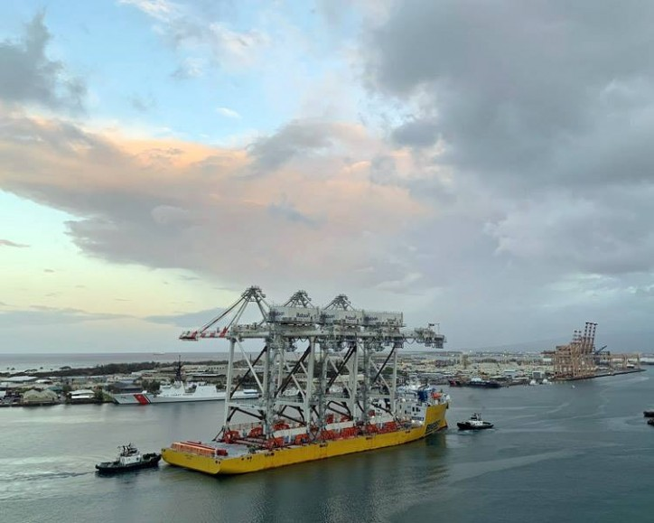Matson Receives New Cranes - Acquisition part of $60Mln investment in Honolulu terminal improvements