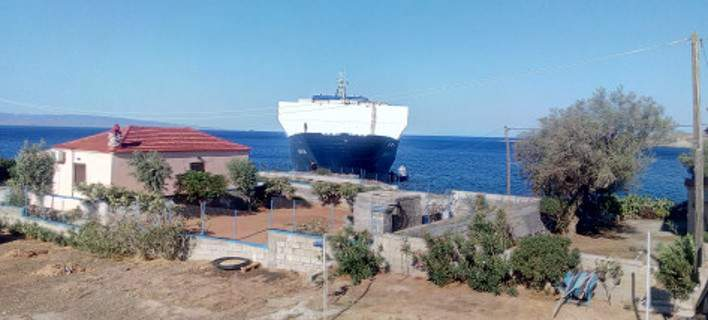 Ro-Ro Cargo ship SAFFET BEY Hard Aground in Lakonias, Greece