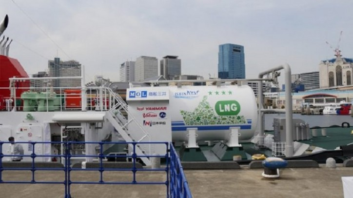 MOL Holds Delivery Ceremony for LNG-fueled Tugboat Ishin