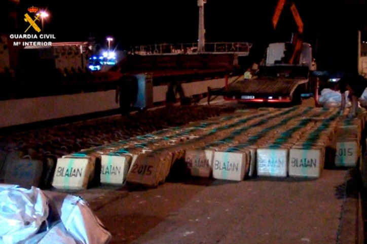 Twenty tons of hashish seized on board of freighter in the Mediterranean