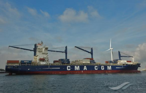 EURAF 5 operated by CMA CGM between Europe and West Africa South range