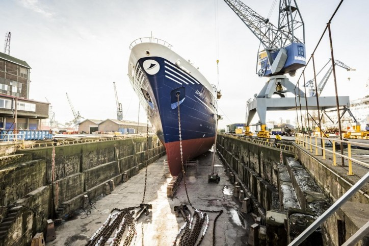 Damen Shiprepair Amsterdam completed maintenance works on cruise vessels Marco Polo and Magellan