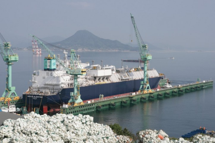 GasLog's newest LNG carrier GasLog Gladstone launched at SHI shipyard