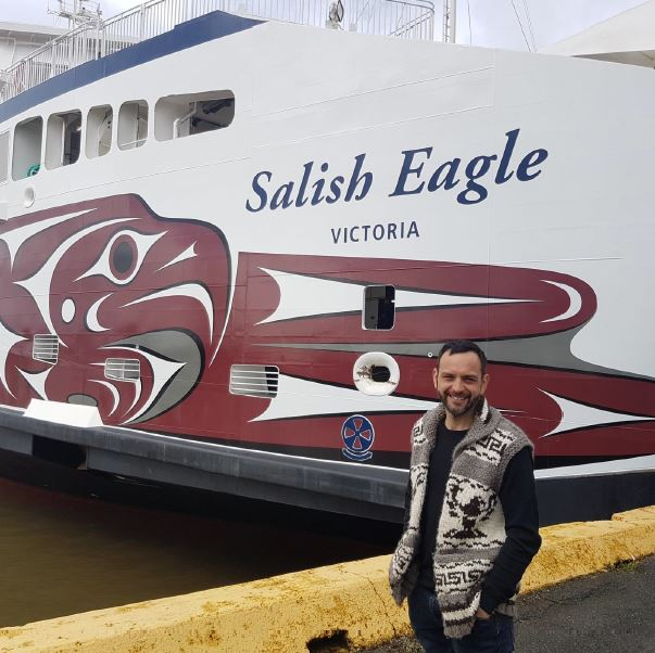 BC Ferries Unveils Salish Eagle Hull Wrap