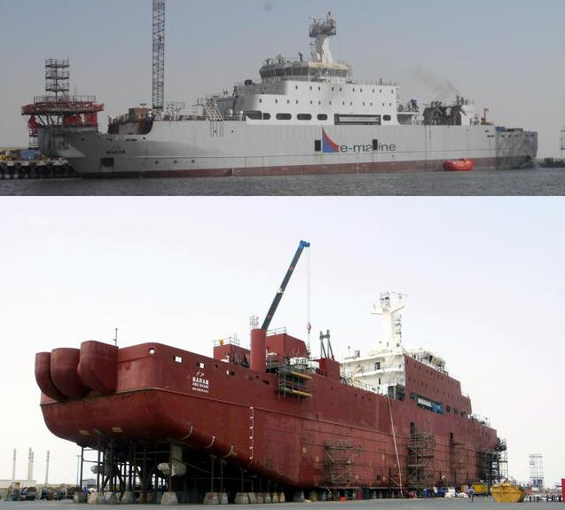 Ro-Ro Vessel Converted To Cable Layer