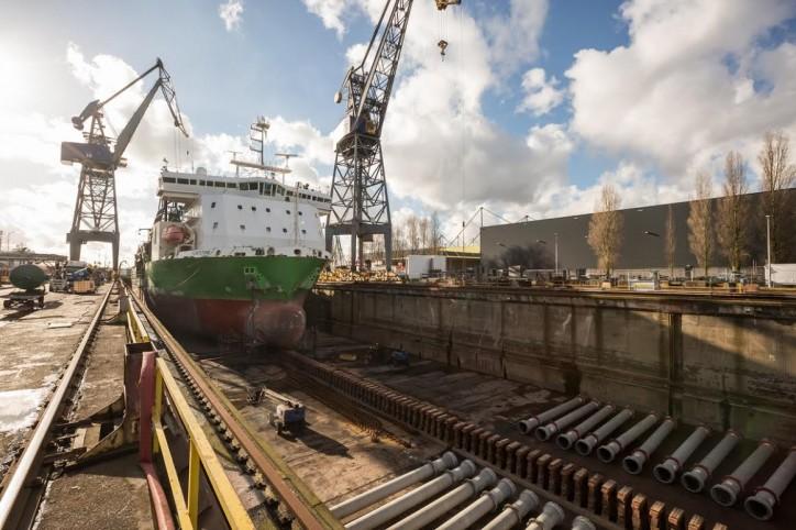 Damen Shiprepair Amsterdam completes maintenance programme for fallpipe vessel Flintstone