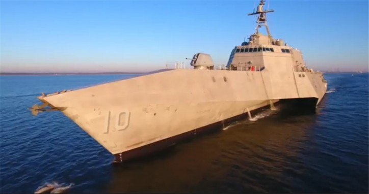 Austal's Littoral Combat Ship 10 Completes Acceptance Trials (Video)
