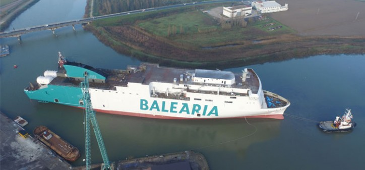 Balearia launches its second LNG ferry in Italy