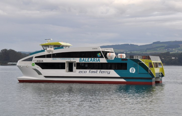 Astilleros Gondán Builds Four GRP Eco Fast Ferries for Baleària