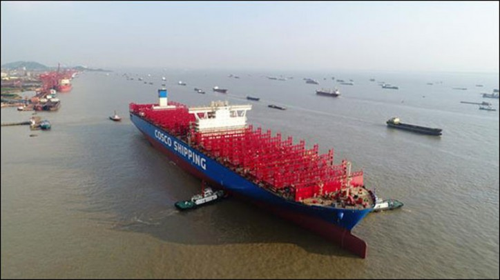 China-made ship sets record on Yangtze River