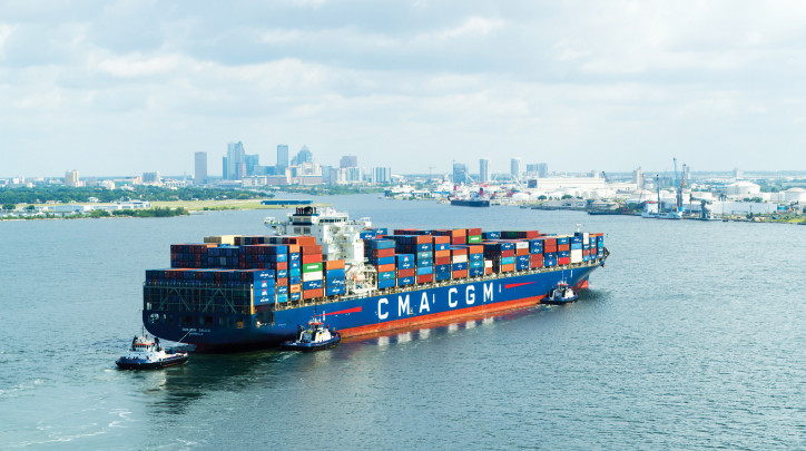 Port Tampa Bay Welcomes its Largest Container Ship Ever