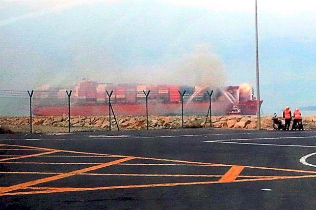 San Felipe still on fire