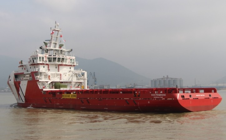 Vroon takes delivery of new platform-supply vessel - VOS Primrose