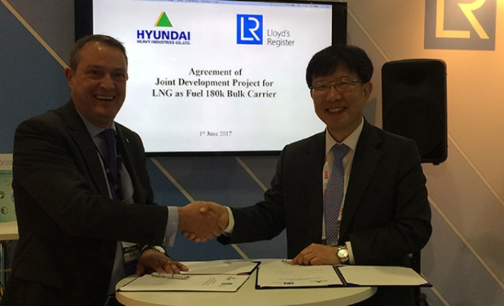 180k DWT class LNG-fuelled bulk carrier design joint development project announced