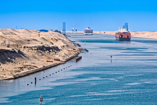 Suez Canal Reports Hitting New Day Record With 70 Vessels