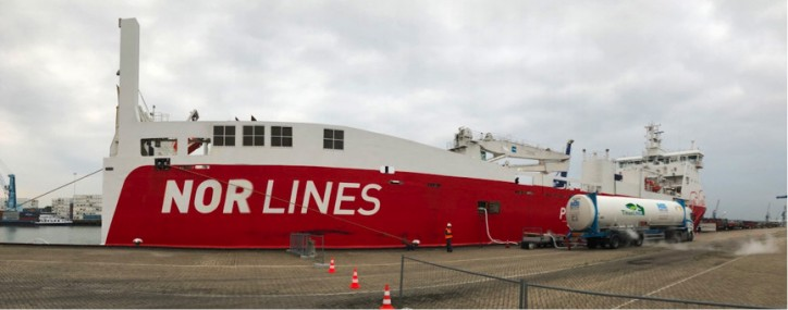 Nor Lines New Customer for Titan LNG at the City Terminal Rotterdam