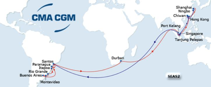 SEAS2 service CMA CGM Group