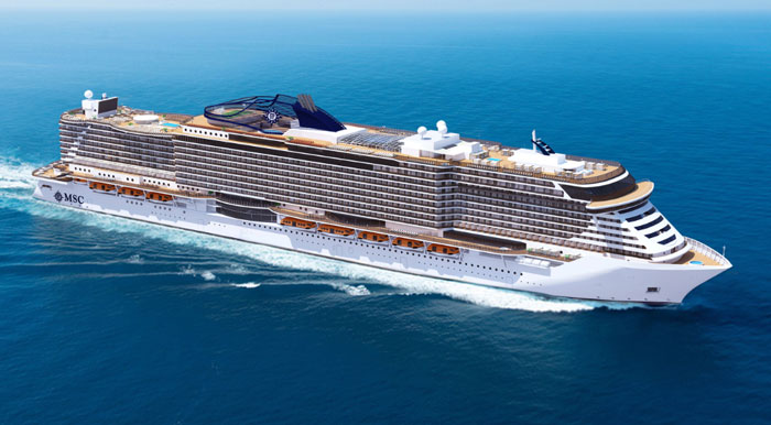 MSC cruises new vessels
