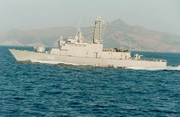 Turkish-flagged cargo ship Karmate and Hellenic Navy gunboat Armatolos collide in Aegean