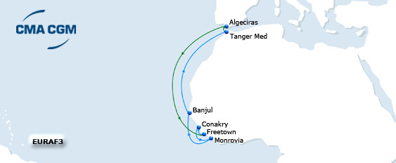 CMA CGM EURAF 3 | New port coverage
