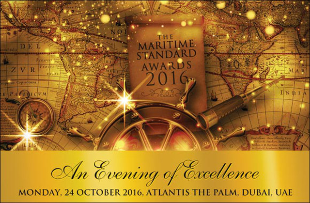 The Maritime Standard Awards 2016 to take place on 24th October this year