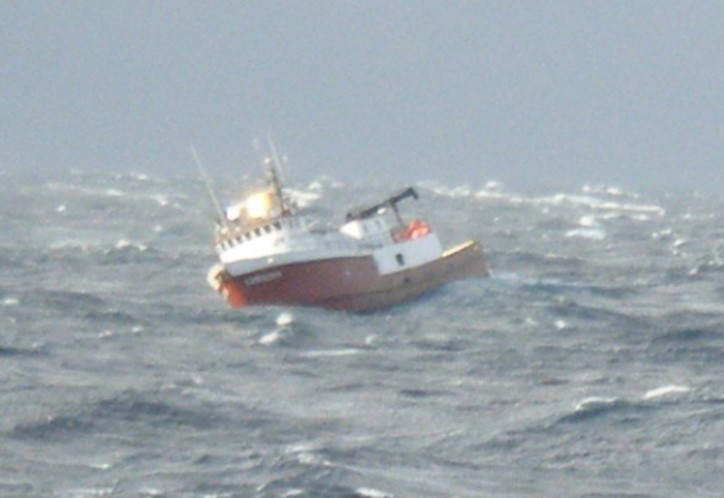 U.S. Coast Guard rescues 4 from disabled fishing vessel 230 miles offshore Kodiak, Alaska