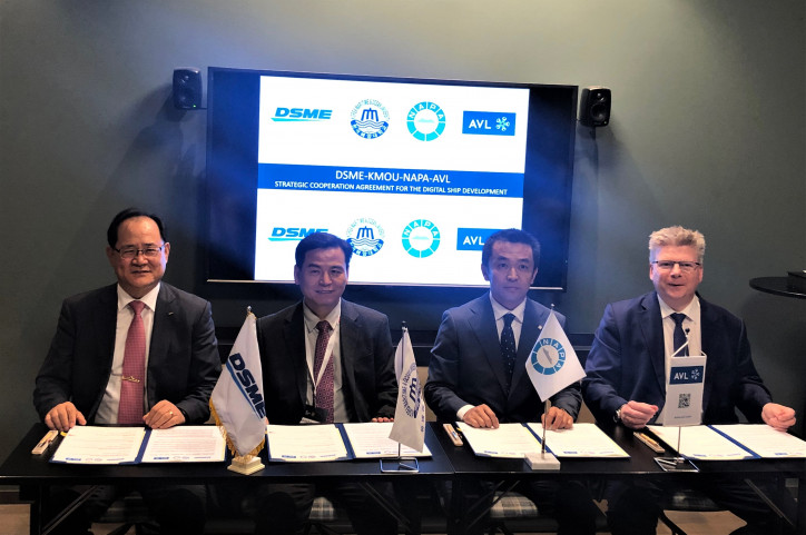 DSME, Korea Maritime and Ocean University, NAPA and AVL announce strategic partnership to develop digital ship