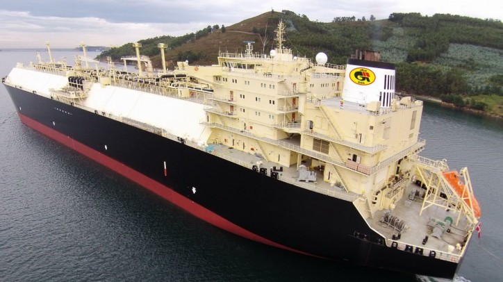 Meridian Spirit - GAIL's first Chartered LNG Vessel carrying long term US LNG arrives at Dabhol