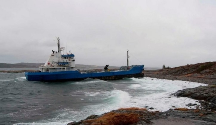 Scan Master aground in Snillfjord