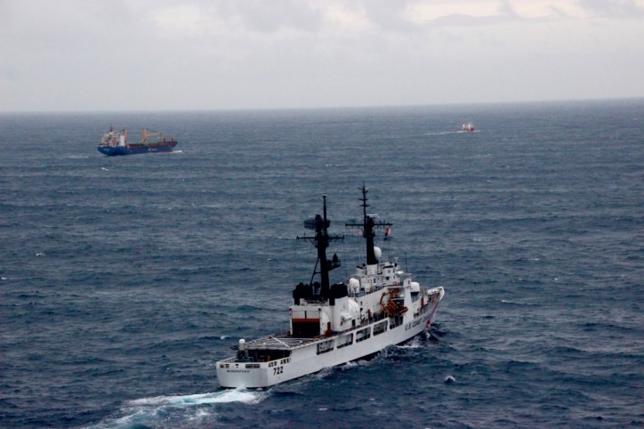 USCG assists disabled cargo vessel in Gulf of Alaska