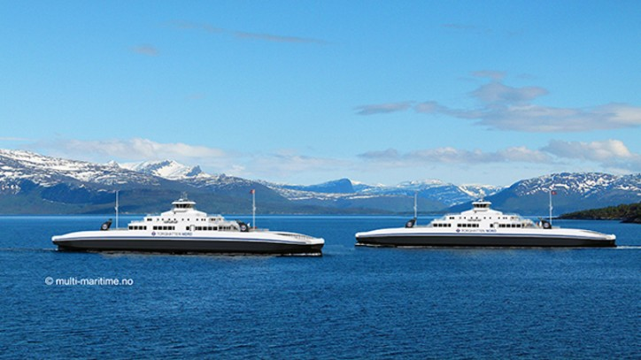 Rolls-Royce wins order for 15 gas engines to five new ferries for Torghatten Nord