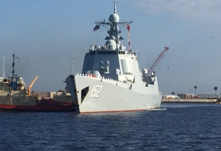 Chinese Naval Ships Dock in US