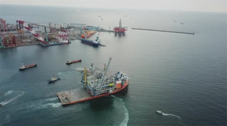 Video: Statoil Aasta Hansteen sail away