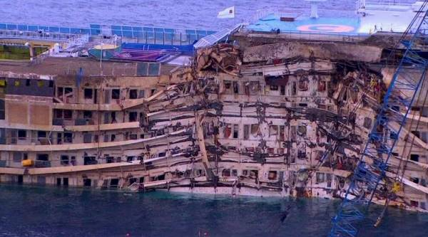 Shipwreck removal of Costa Concordia from Giglio island confirmed on July 14