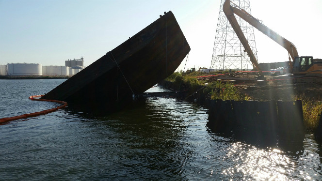Houston Ship Channel Partially Closed after Tug and Barge Sink