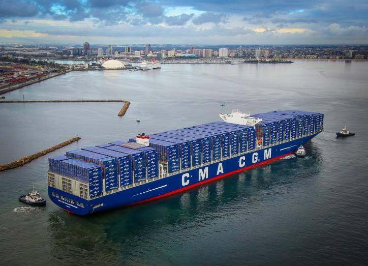 Port of Long Beach Welcomes megaship Benjamin Franklin