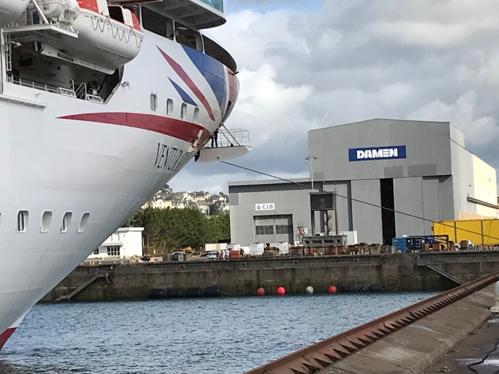 P&O Cruises Ventura completes two-week docking at Damen Shiprepair Brest