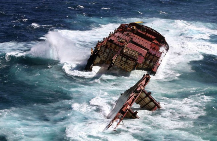 Rena wreckage to remain on Astrolabe Reef