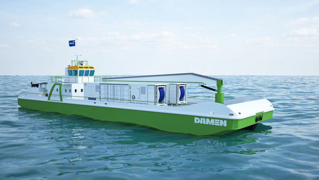 Damen's unique InvaSave en route for type approval with shipboard tests (Video)