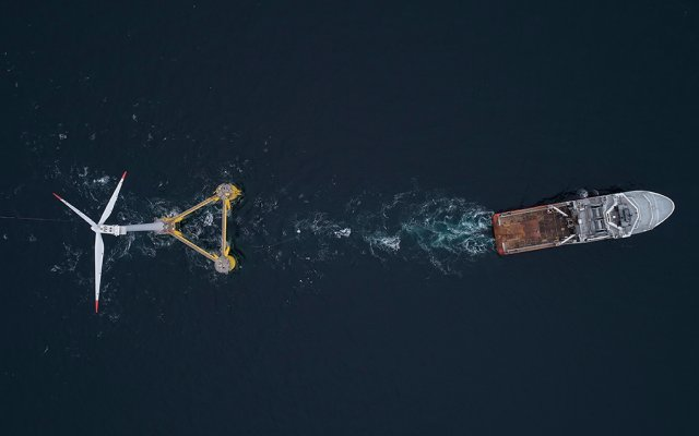 Bourbon Subsea Services has installed the first floating wind turbine of the Kincardine Offshore Windfarm