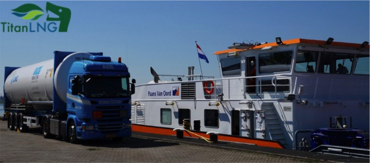 Titan LNG Supplies the New Van Oord LNG Powered Vessel Werkendam
