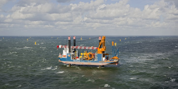 Van Oord installs first jacket foundation on the East Anglia ONE project